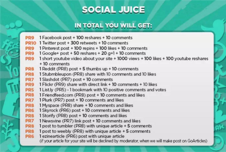 social juice seo package